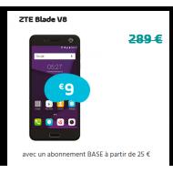 ZTE Blade V8 - Abonnement BASE