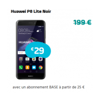 Huawei P8 Lite Noir - Abonnement BASE
