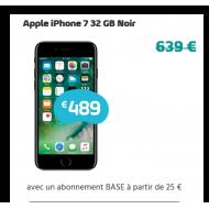 Apple iPhone 7 32 GB Noir - Abonnement BASE