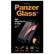 PANZERGLASS VERRE PROTECTEUR D'ECRAN IPHONE 6/6S/7/8/SE 2020 CASE FRIENDLY, BORD NOIR