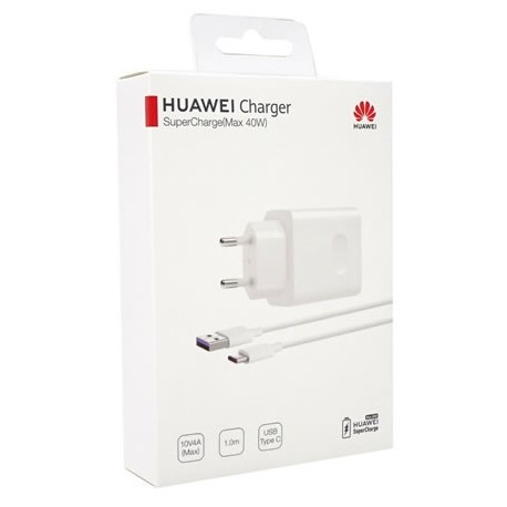 HUAWEI CP84 CHARGEUR RAPIDE 40W + USB TYPE-C CABLE 1 M, BLANC