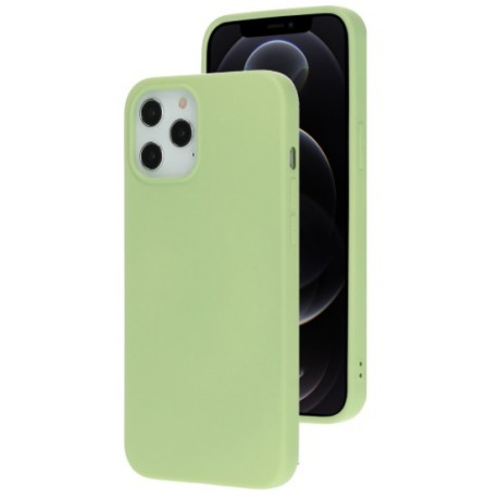 Mobiparts Coque Silicone Apple iPhone 12 Pro Max Pistache Vert
